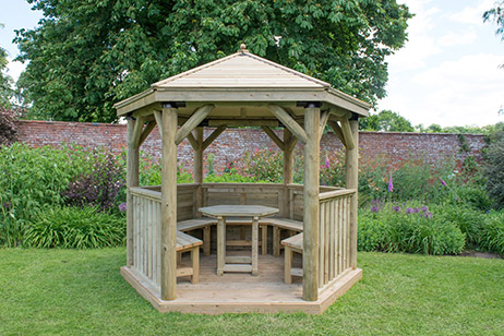garden gazebo summer house timber range from M&M TImber