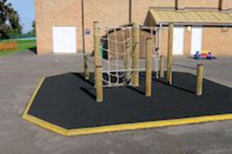 school playground timber frame