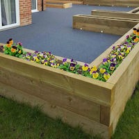 DuraSleeper timber sleepers for landscaping M&M Timber