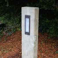 timber sleeper bollards with lumena lights from M&M Timber