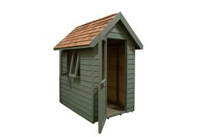 FRA46GNIN_5 - 6x4 Retreat Shed - Moss Green
