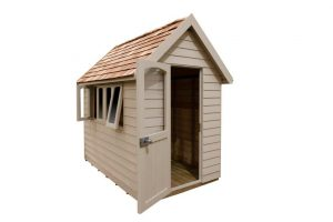 FRA58CRIN_4 - 8x5 Retreat Shed - Natural Cream
