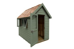 FRA58GNIN_4 - 8x5 Retreat Shed - Moss Green