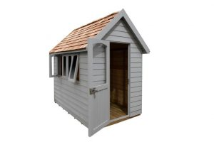 FRA58GYIN_4 - 8x5 Retreat Shed - Pebble Grey